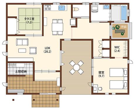 【平屋の外観モデル】アイフルホーム