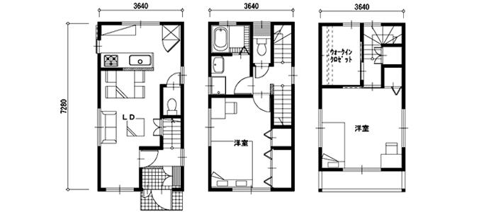 20坪・25坪の注文住宅の相場と間取り実例