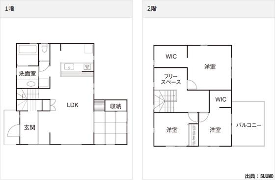 1000万円以下の注文住宅の家の間取り実例