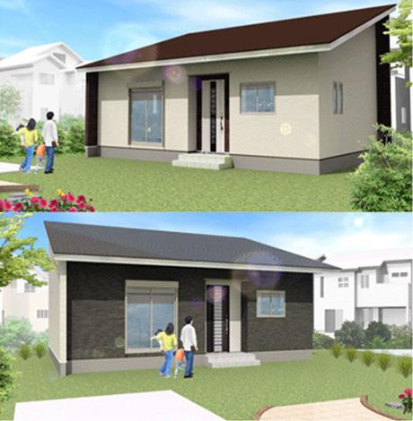 798万円のローコスト住宅×平屋( 間取り2LDK-15坪)外観デザイン