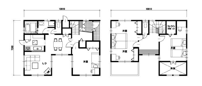 35坪の注文住宅の間取り実例
