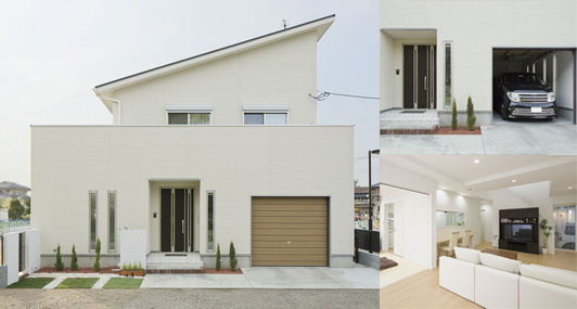 土地+建築費用3,000万円の家の外観実例3