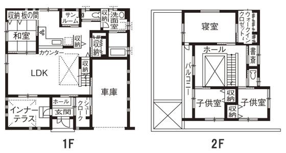 土地+建築費用3,000万円の家の間取り実例3