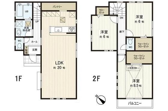 土地+建築費用3,000万円の家の間取り実例2