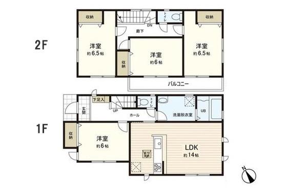 土地+建築費用3,000万円の家の間取り実例