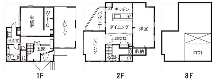 建築費用3,000万円の家の間取り実例