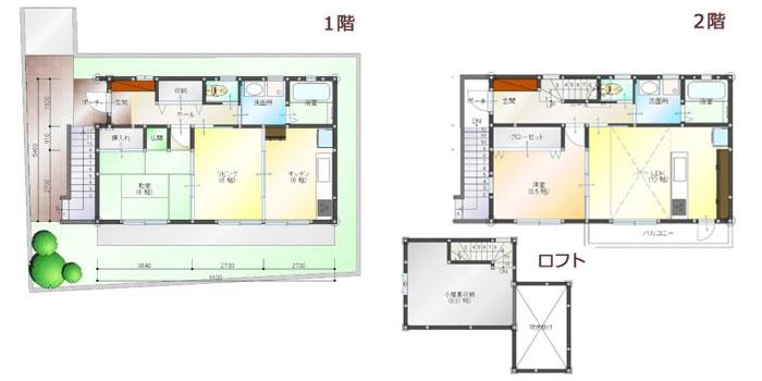 完全分離型の二世帯住宅の間取り30坪・35坪【上下/横割り】