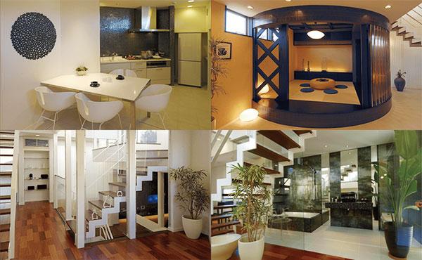 変形地-三角地に建てる2階建て住宅の内観写真