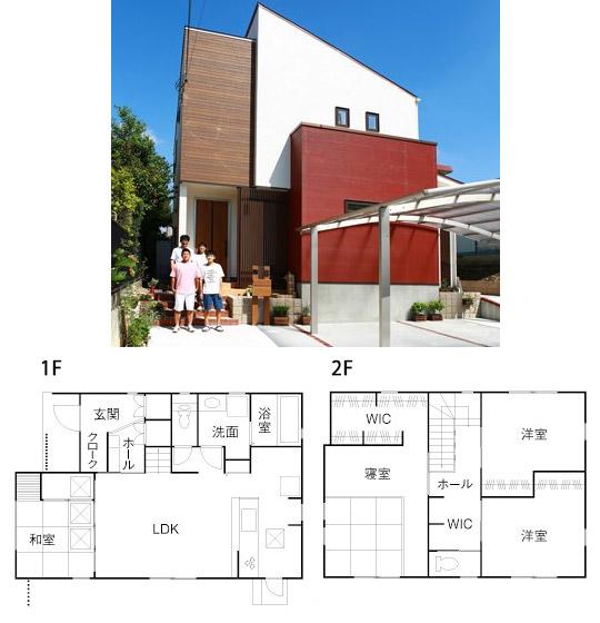 間取り例)1,500万円~2,000万円のウォークインクローゼット使いが秀逸な36坪4LDKの家