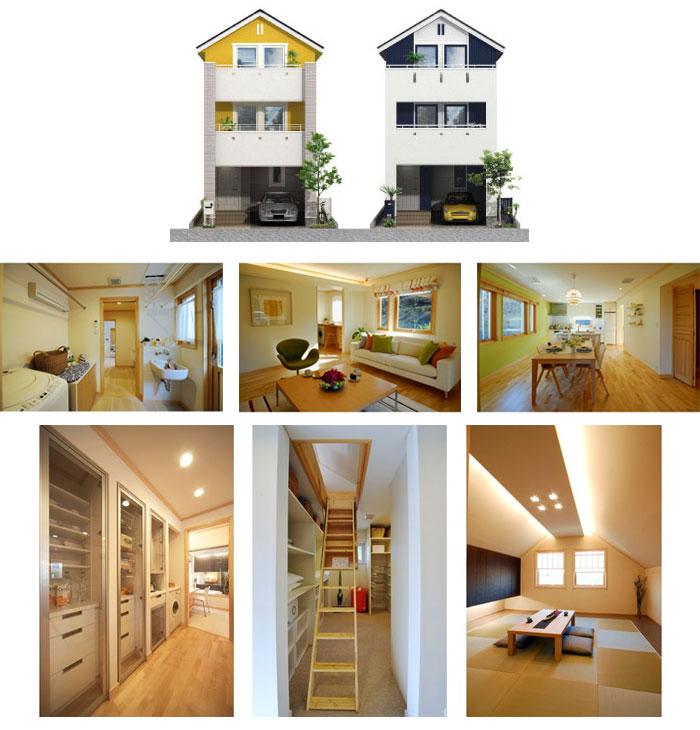 「3階建て住宅」の小さい家の間取りアイデア-スウェーデンハウスが建てる小さな3階建ての家【ヒュース・パッサ】